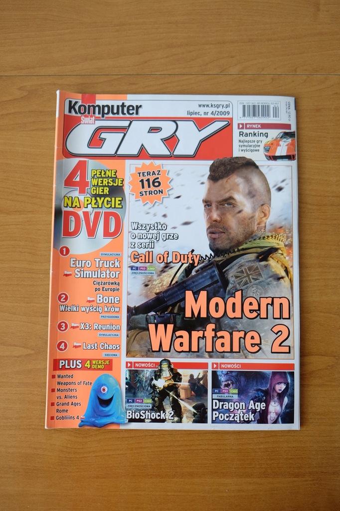 Komputer Świat Gry 4/2009 /Call of Duty Dragon Age
