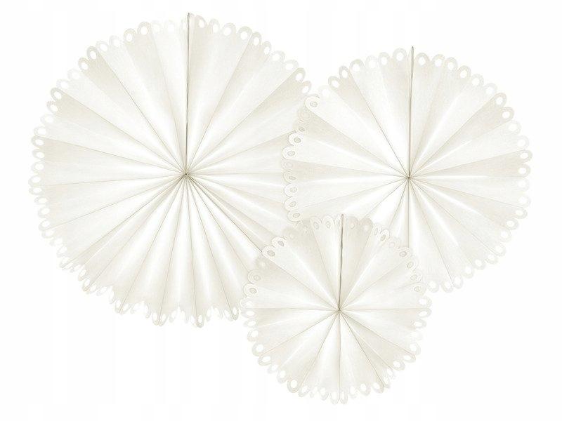 Rozety dekoracyjne, złamana biel 3 szt.