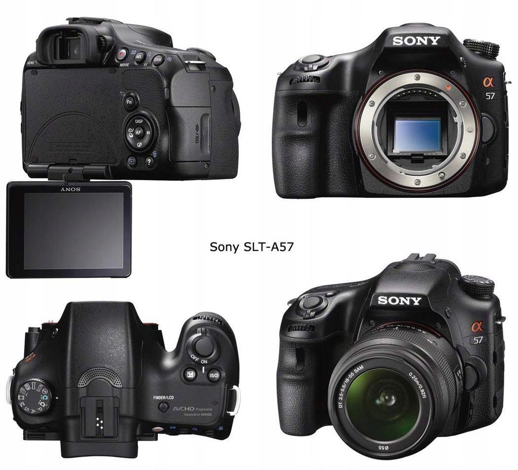 SONY Alpha SLT-A57 16.2Mpx 18-55mm BOX + 16GB # FV