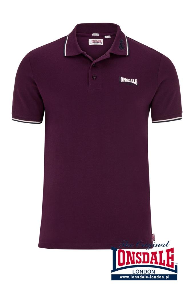 Koszulka Polo LONSDALE LONDON LION 100 bawełna L