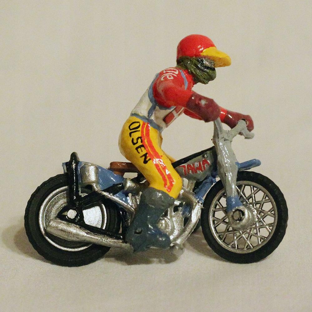 Miniaturka żużlowca, figurka speedway retro -Olsen