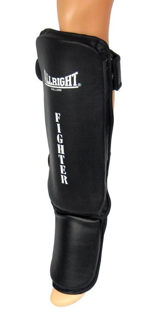 NAGOLENNIK+STOPA FIGHTER PVC BLACK r.XL