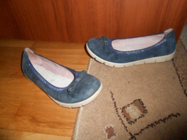 SUPERFIT baleriny skórzane,niebieskie,36/22,5 cm