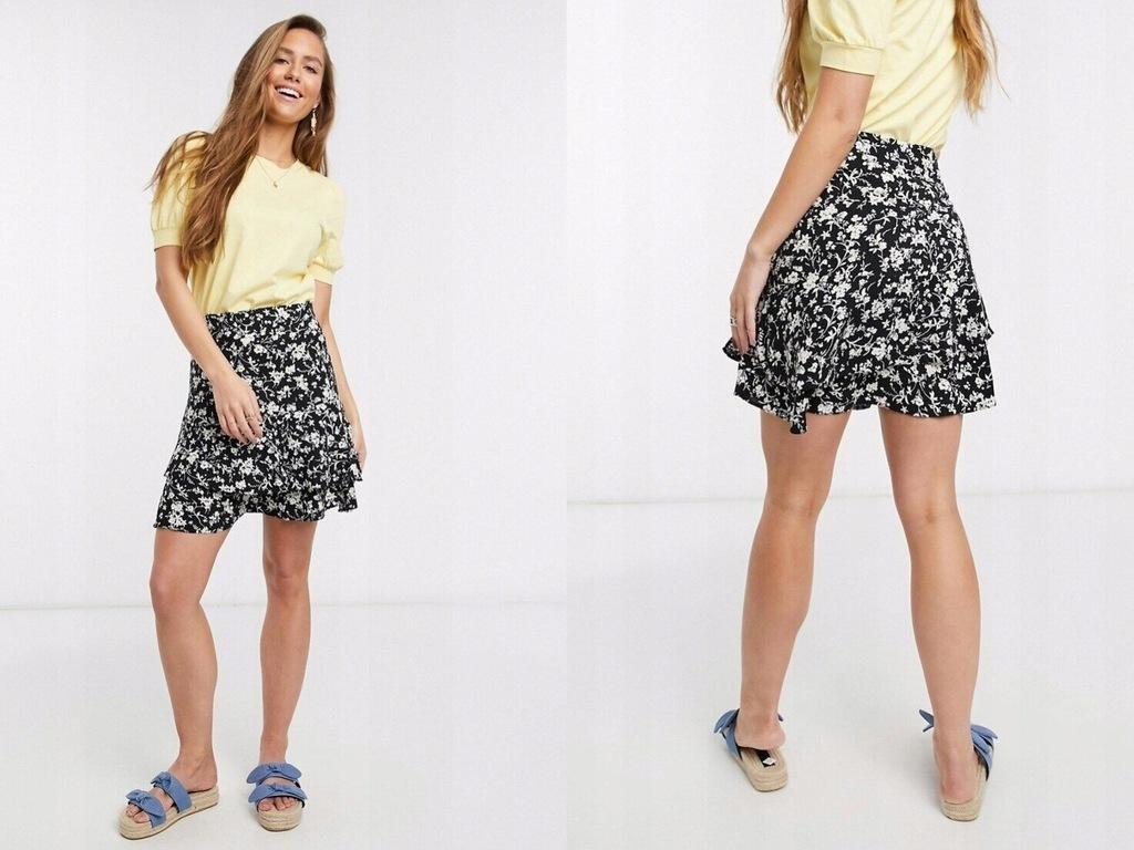 New Look Warstwowa spódnica mini z falbanką 3XL