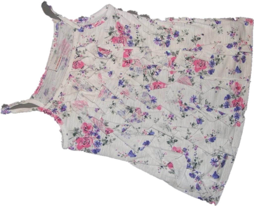 NEXT__7 l__122 cm__elastyczna bluzka z falbankami