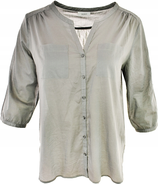 mHHH0835 C&A szara koszula z kieszeniami 48