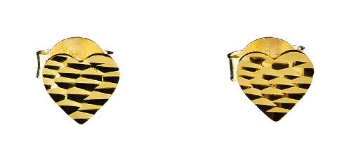 Kolczyki złote serduszka 585 Prezent