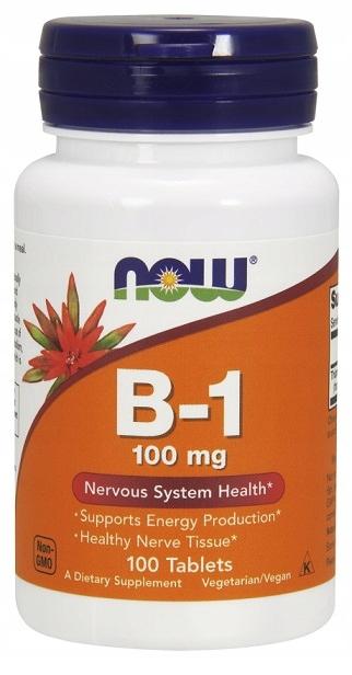 NOW Witamina B 1 100 mg 100 tab Tiamina