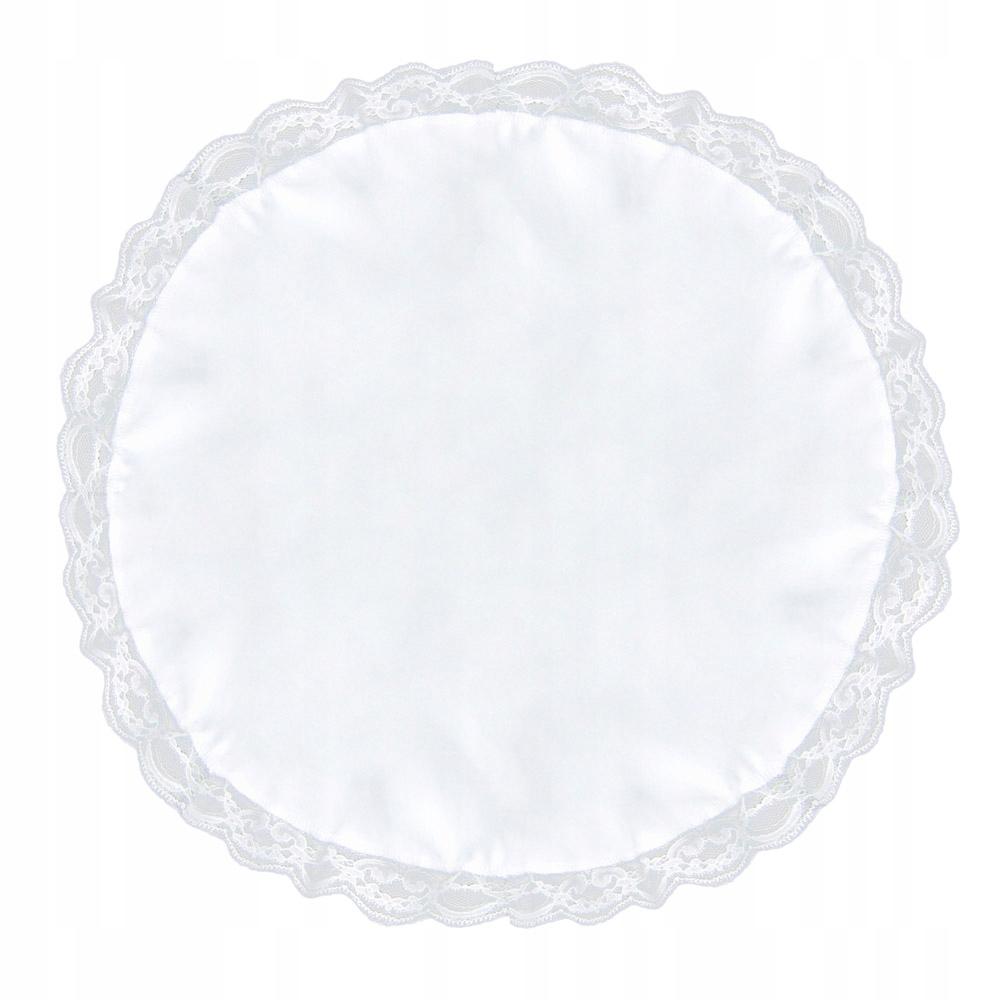Biała serwetka do koszyczka wielkanocnego 45cm