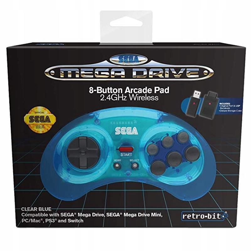 Sega Mega Drive Mini pad bezprzewodowy niebieski