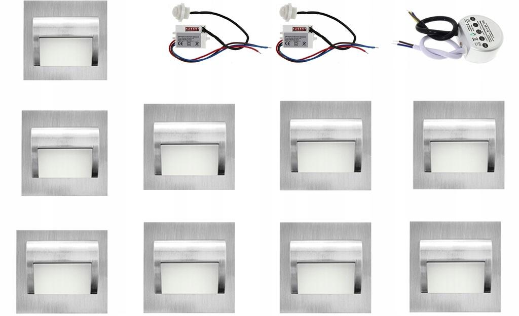 Oprawa Światło przypodłogowe na schody x 9 sztuk