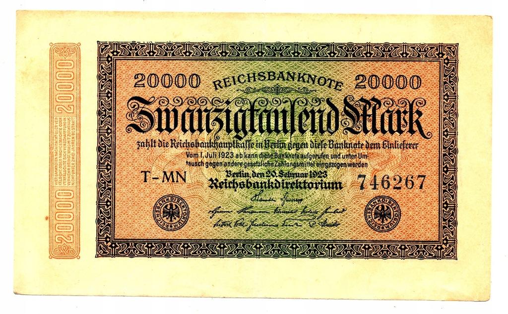 20 000 marek 1922 bardzo szeroki numer