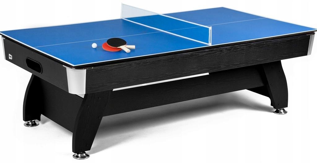Nakładka Ping-Pong na stół bilardowy 8ft Czarna