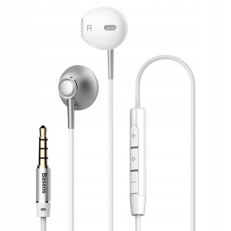 Słuchawki Baseus Encok H06 - srebrne BASEUS