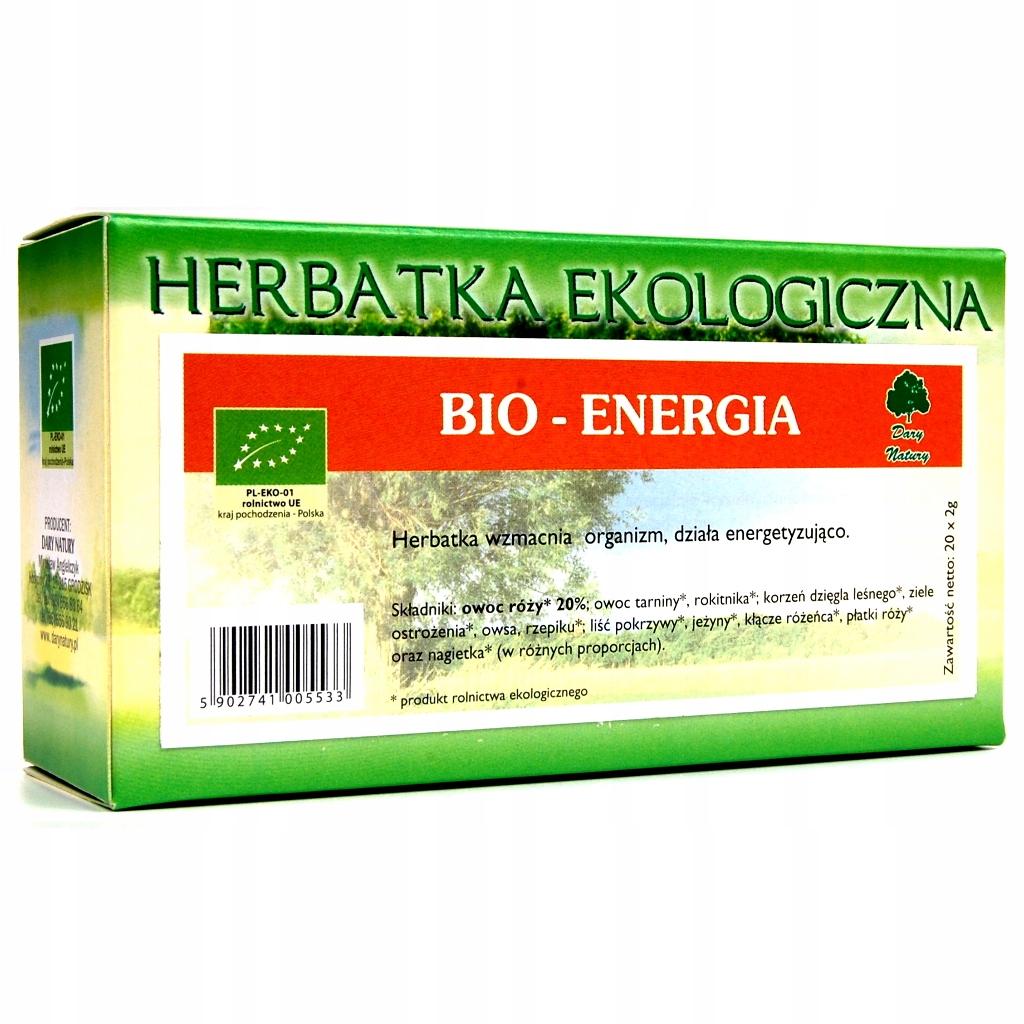 HERBATA BIO-ENERGIA FIX BIO 20*2G DARY NATURY