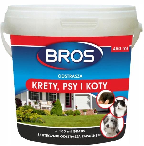 Bros Preparat Odstraszacz na Psy Koty Krety 450ml