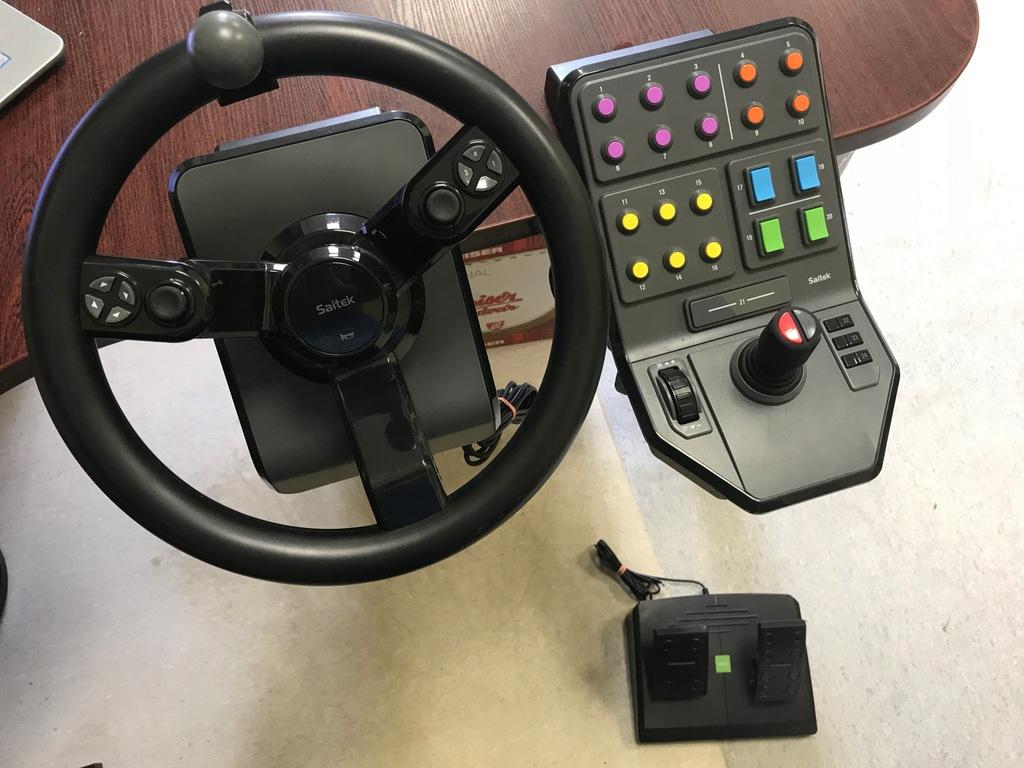 Kierownica Logitech Saitek Do Farming Simulator Pc 8459043904 Oficjalne Archiwum Allegro