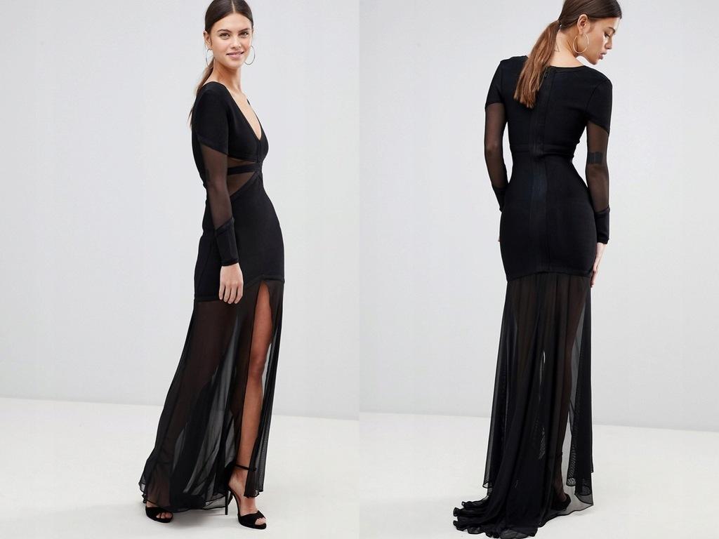 Forever Unique długa sukienka z rozcięciemS36 8452335355