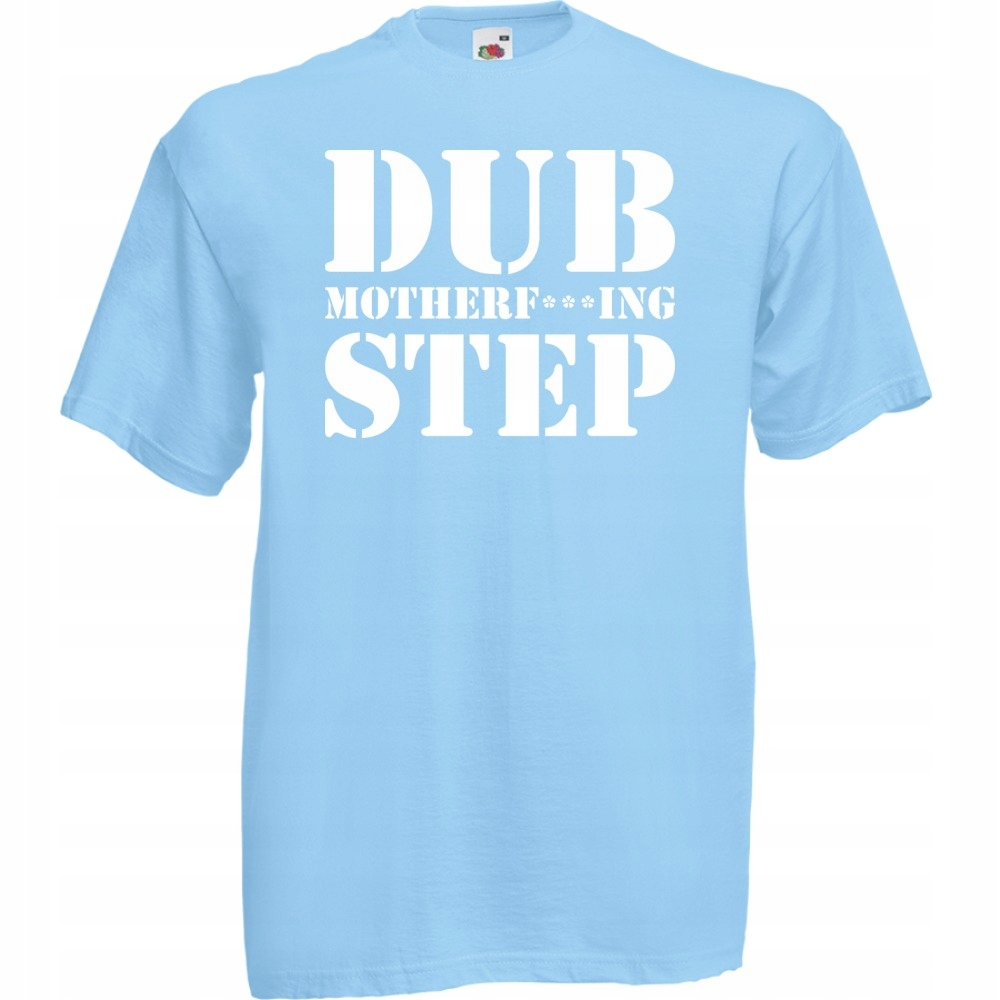 Koszulka z nadrukiem dubstep dub M błękitna