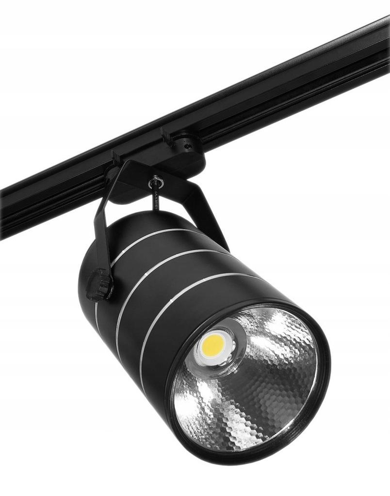 Lampa sklepowa led reflektor szynowy jednofazowy c