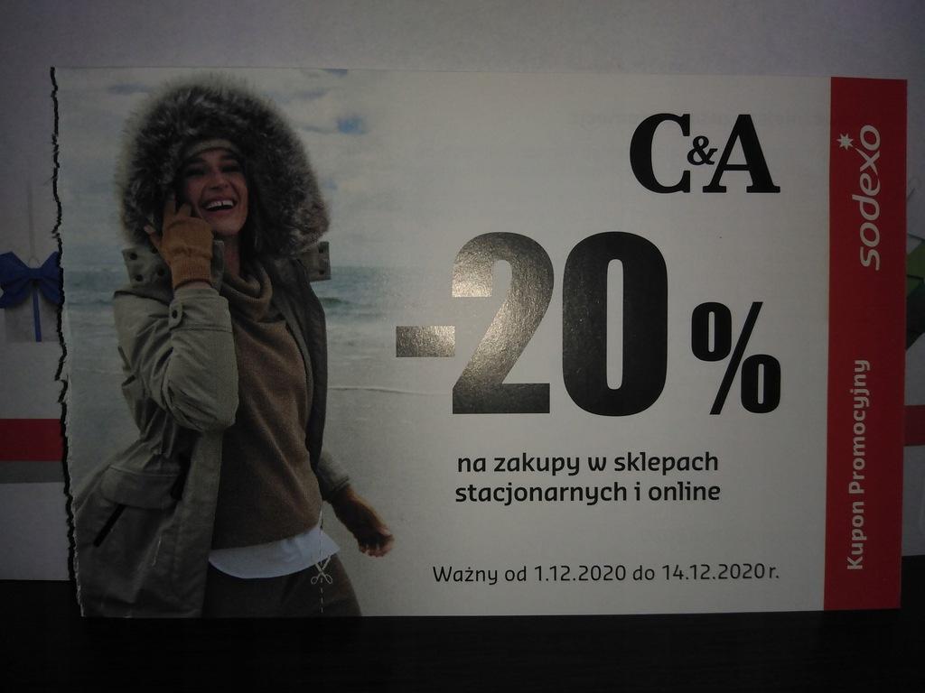 Kupon Bon podarunkowy Sodexo C&A 20%