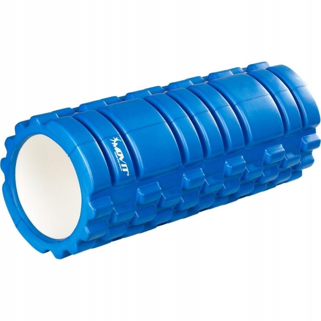 Wałek do masażu MOVIT 33 x 14 cm, niebieski roller