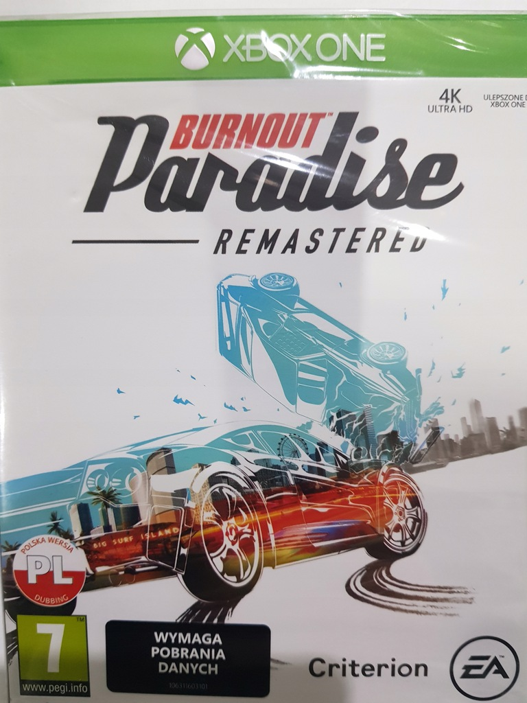 Folia Burnout Paradise Remastered XONE Xbox Kraków