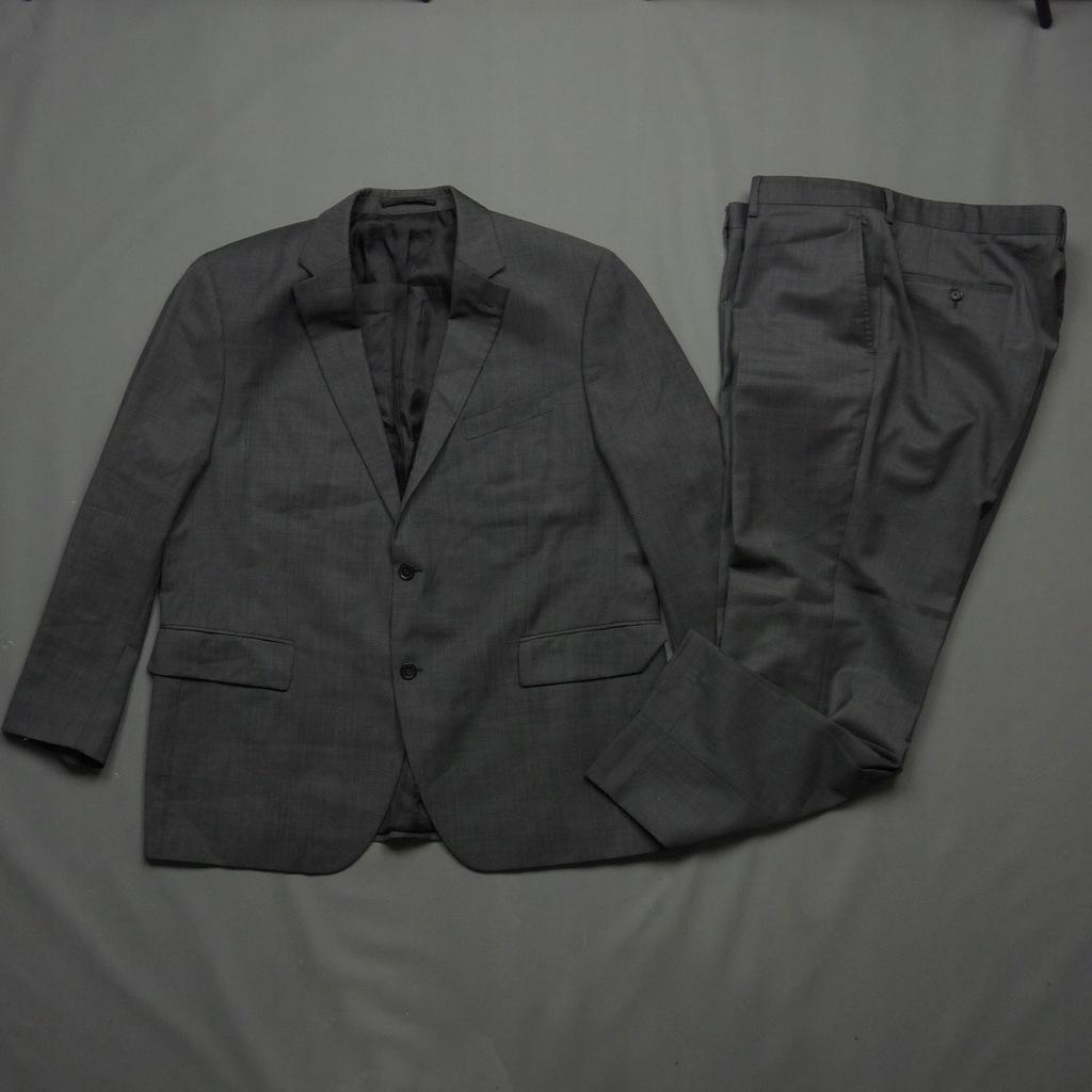 PIERRE CARDIN szary garnitur Virgin Wool j.nowy XL