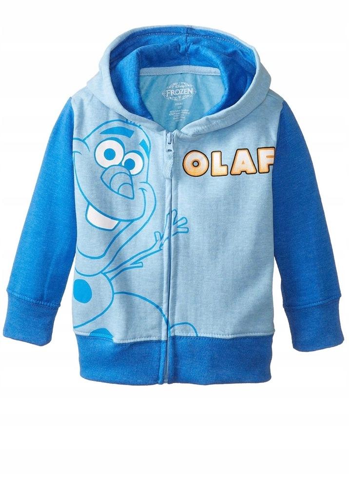 FROZEN kraina lodu OLAF bluza z kapturem 104