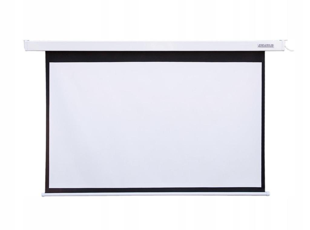 Ekran projekcyjny elektryczny 4World 09472