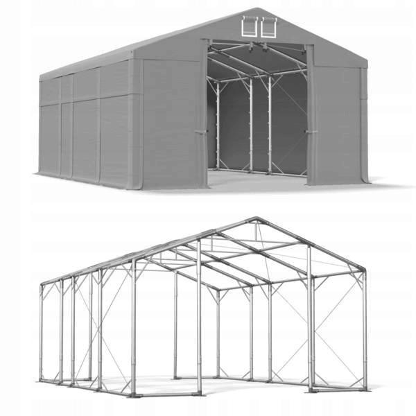 5x7m 2,5-3,4m Namiot magazynowy wzmocniony zimowy