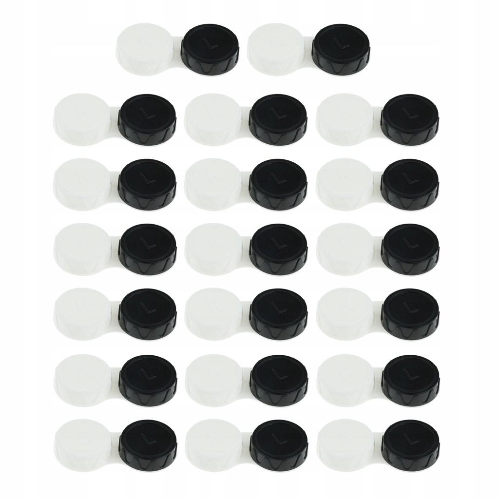 Mini futerał na soczewki kontaktowe - Czarny