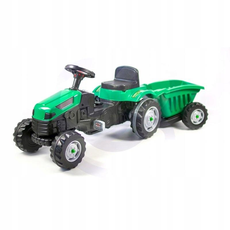 WOOPIE Traktor MAXI na Pedały z Przyczepą Zielony
