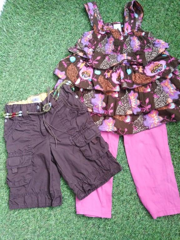 Fajny zestaw ubrań C&A 104 110 dla dziewczynki