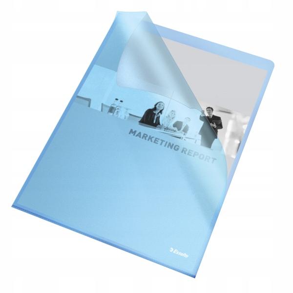 Ofertówka groszkowa ESSELTE A4 115mic niebieska