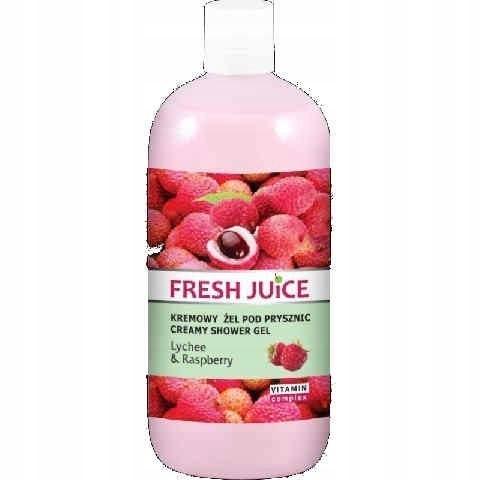 Fresh Juice Żel pod prysznic kremowy Liczi i Malin