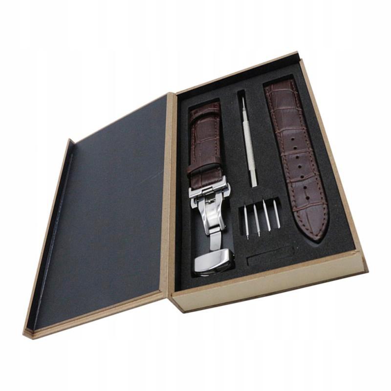 (pudełko, pasek zegarka, narzędzie do naprawy)