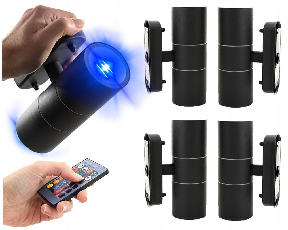 Kinkiet zewnętrzny aluminiowy RGB LED