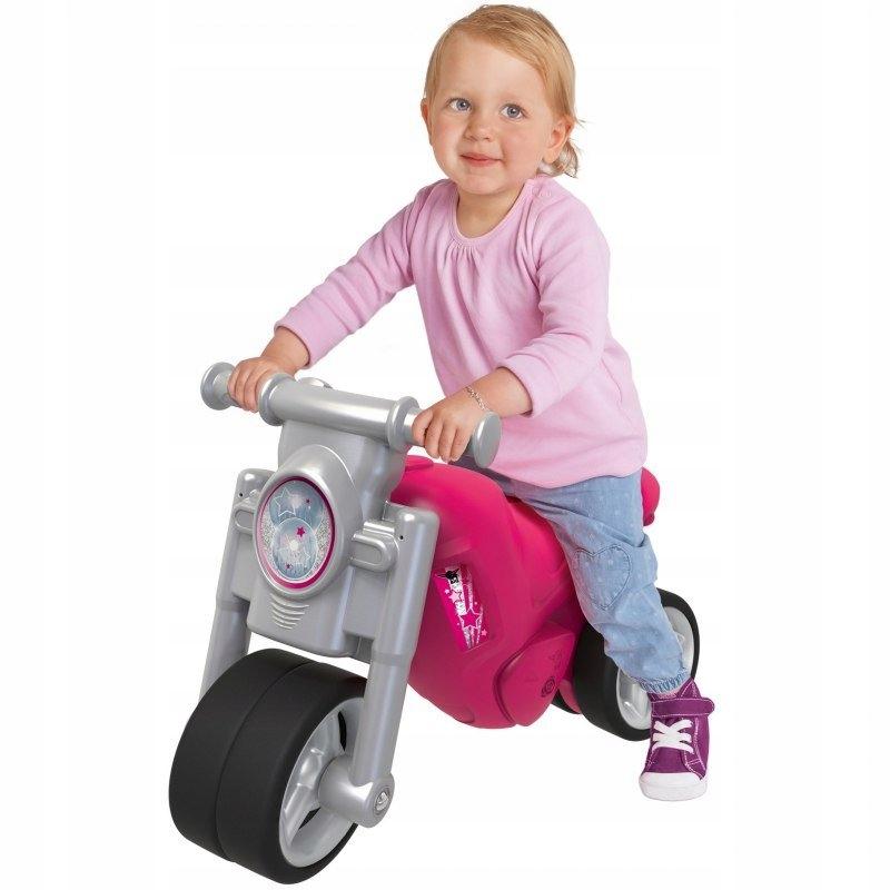 BIG Jeździk Motor Różowy Girlie