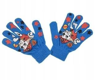 PSI PATROL niebieskie rękawiczki Pieski MARSHALL