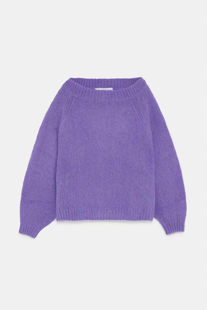Sweter z moherem Fioletowy