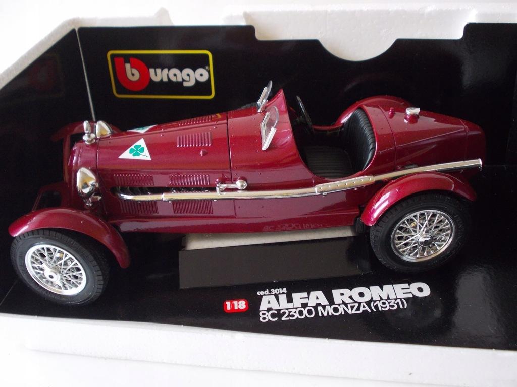 Alfa Romeo 8c 2300 Monza 1931 Bburago 1 18 7905625091 Oficjalne Archiwum Allegro