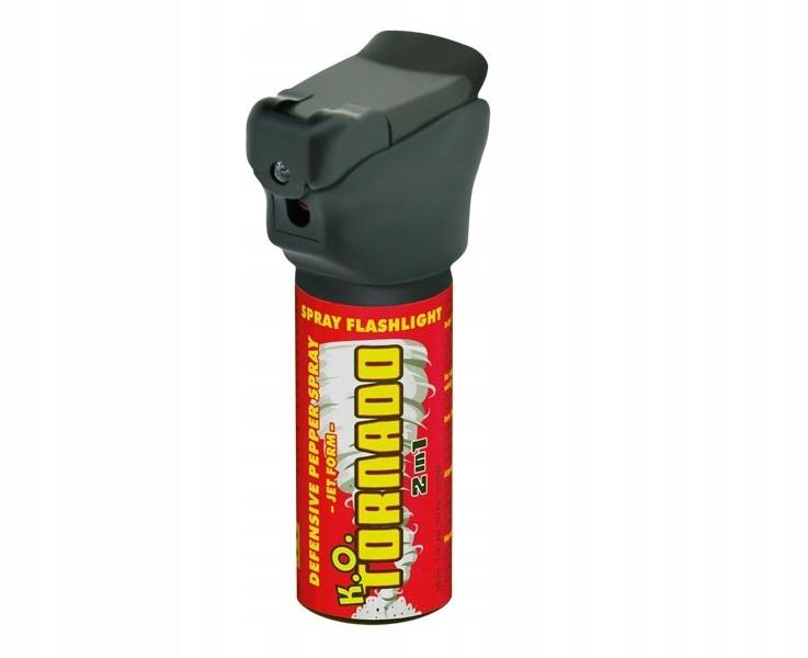 GAZ pieprzowy K.O. TORNADO Z LATARKĄ LED - 50ML