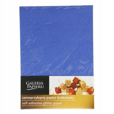 Etykieta samoprzylepna brokatowy niebieski A4 10 s