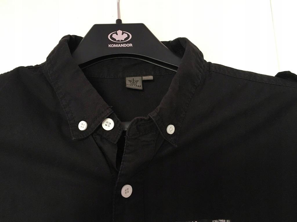 Czarna, nowa koszula XL Firetrap UK z pagonami 8145394513  2SGCj