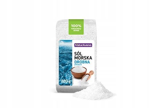 NaturAvena Sól Morska Drobna Jodowana 500g