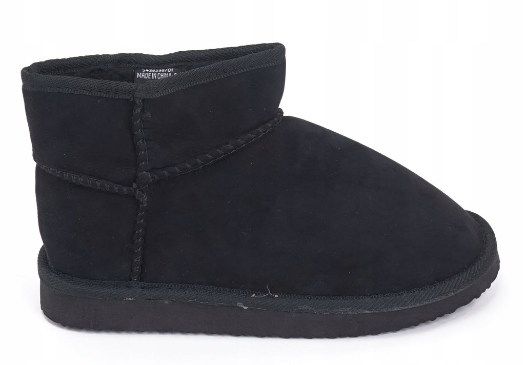 NEW LOOK śniegowce czarne krótkie 38 DJ323 2