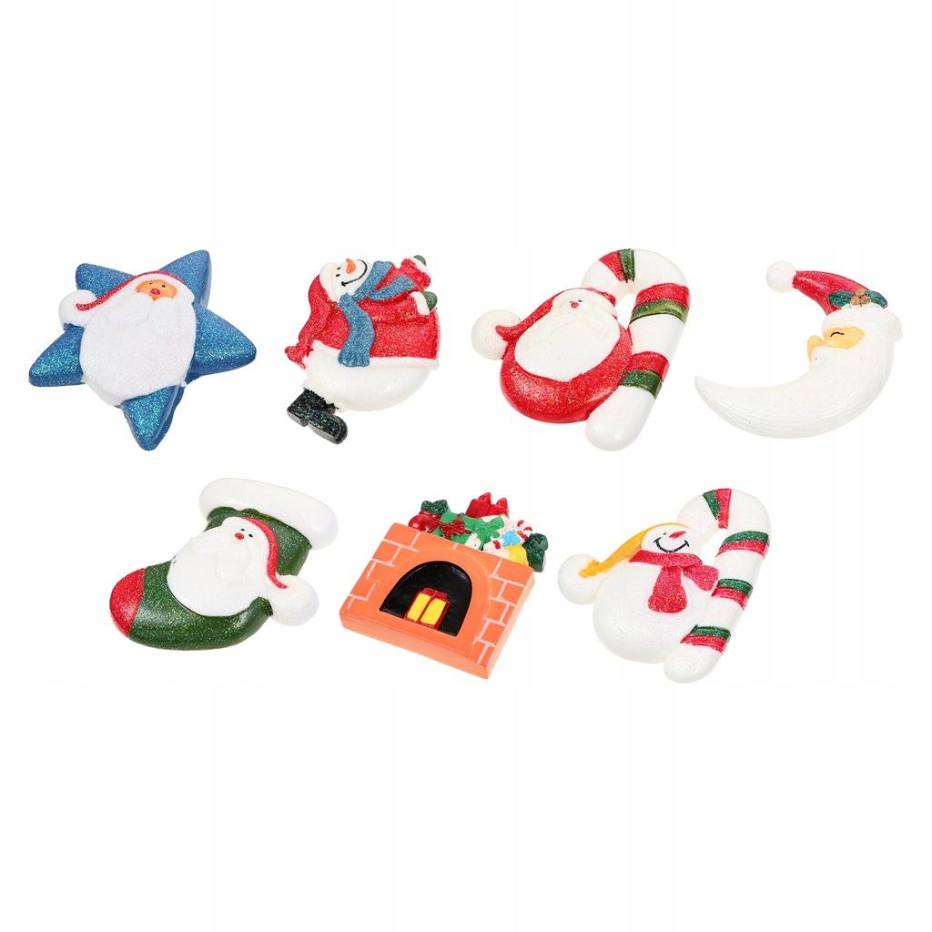7 sztuk świąteczna dekoracja lodówki piękne magnes