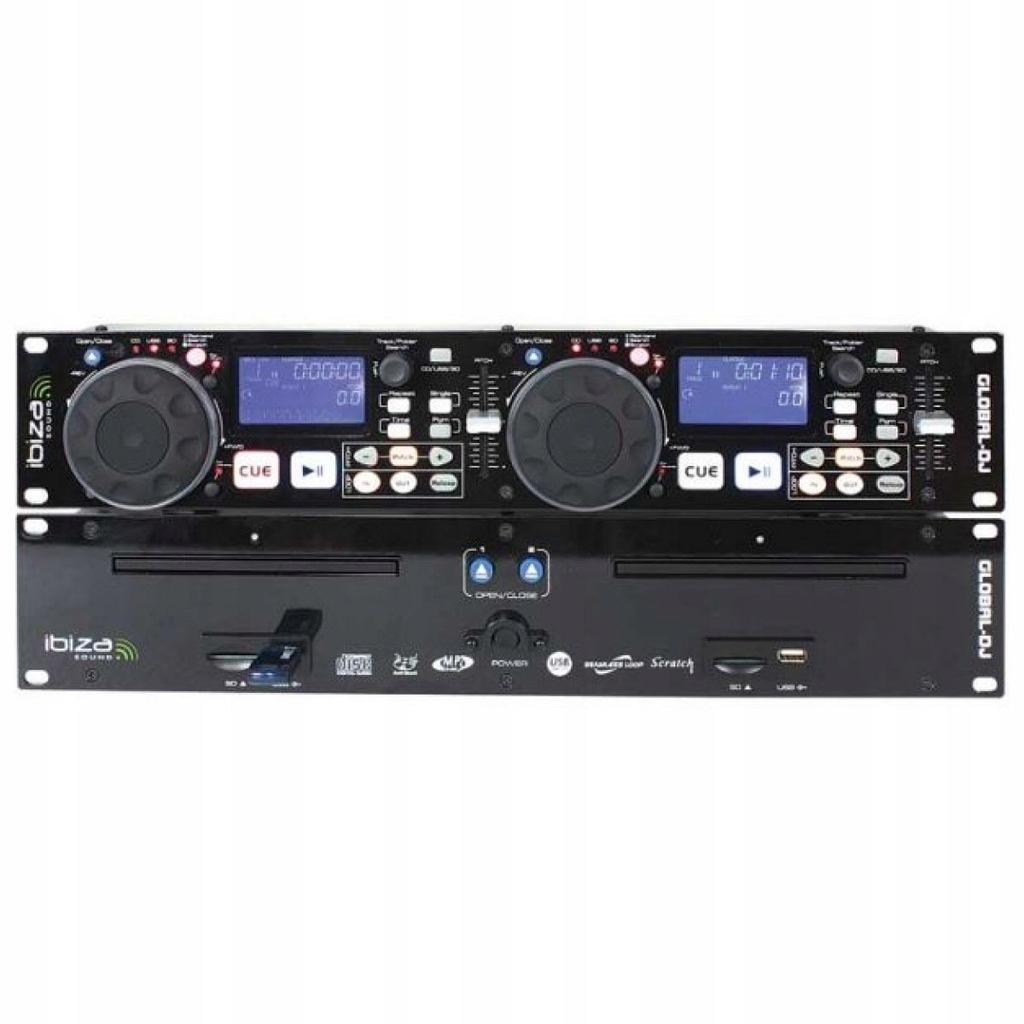 Ibiza Global DJ Odtwarzacz CD USB MP3