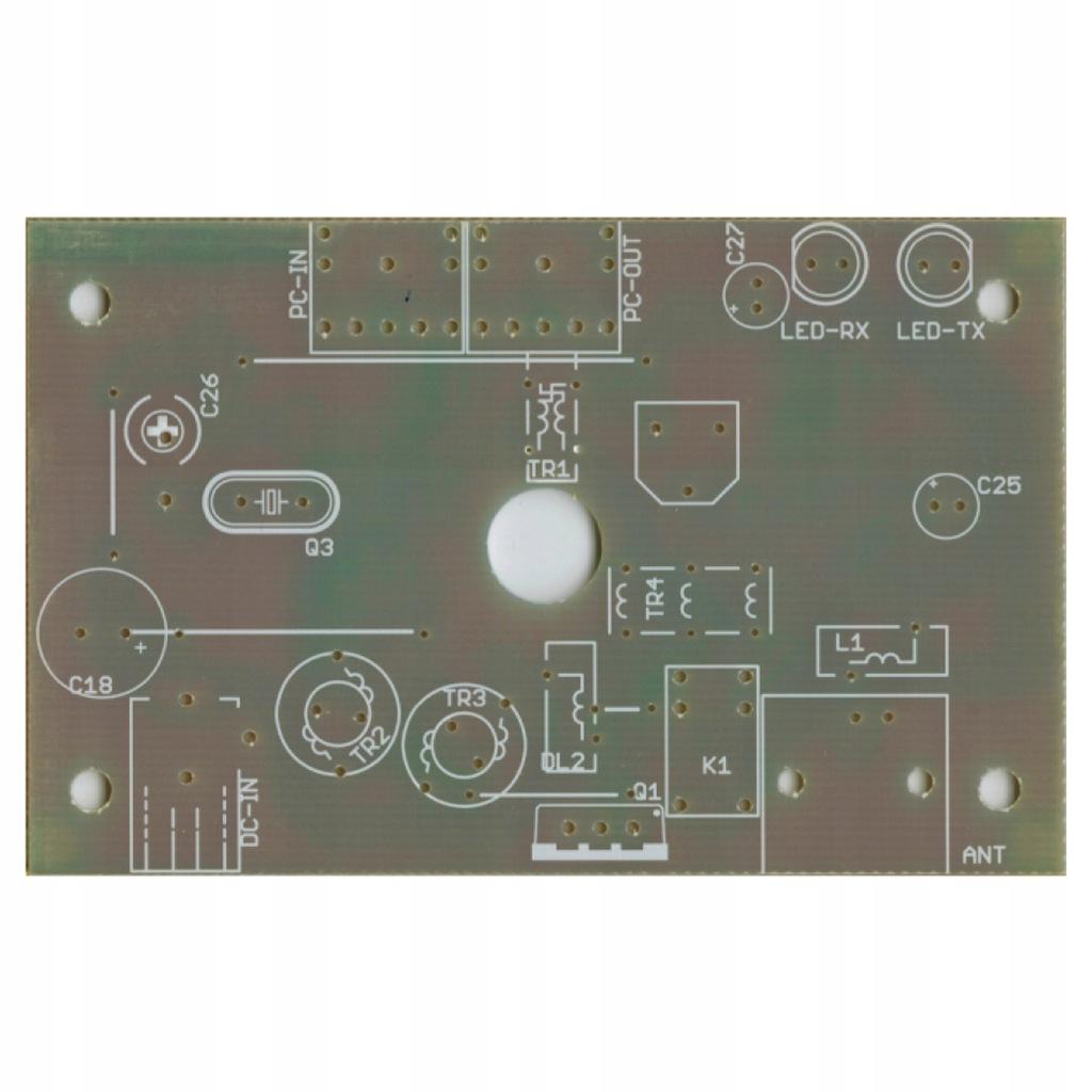 Płytka drukowana transceivera PSK NIKI QRP